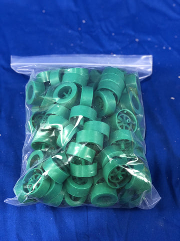 Dark Wheel Assort. R/G/B (100 Pack) - Co2 Dragster Product Line - Activity Based Supplies