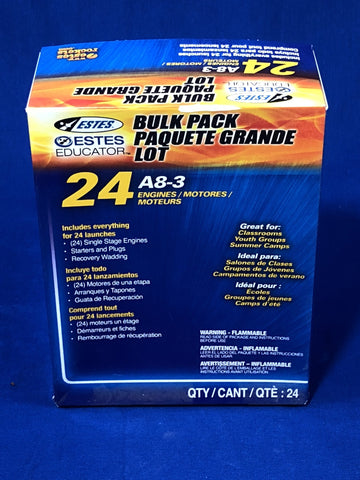 Estes A8-3 Engines (Bulk Pack of 24) Rockets