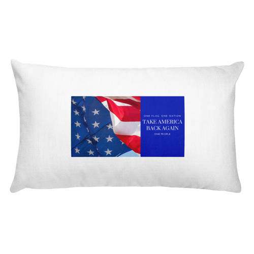 TAKE AMERICA BACK AGAIN Rectangular Pillow