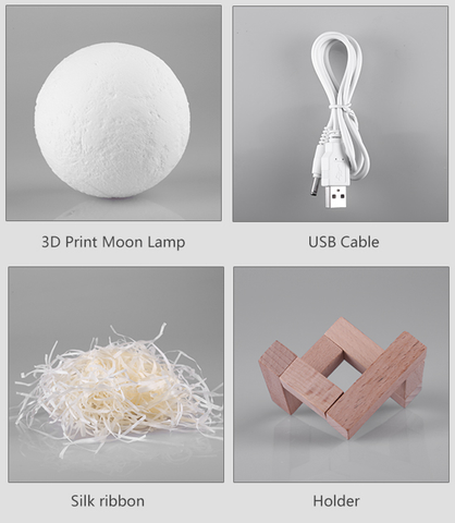 moon lamp box contents