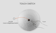 Moon Lamp Operation by touch button