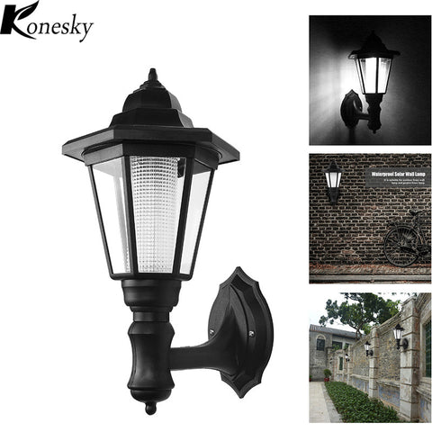Solar LED Outdoor Lights - Wall Lamps - 2 Pieces