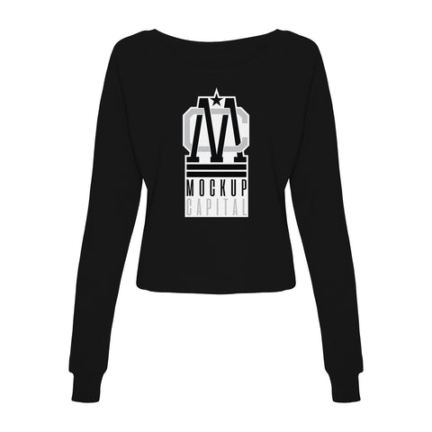 Womens Cropped Sweatshirt Mockup