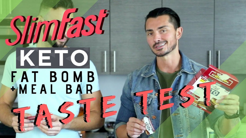 Slim Fast Keto Meal Bar and FAT BOMB Taste Test (2018)