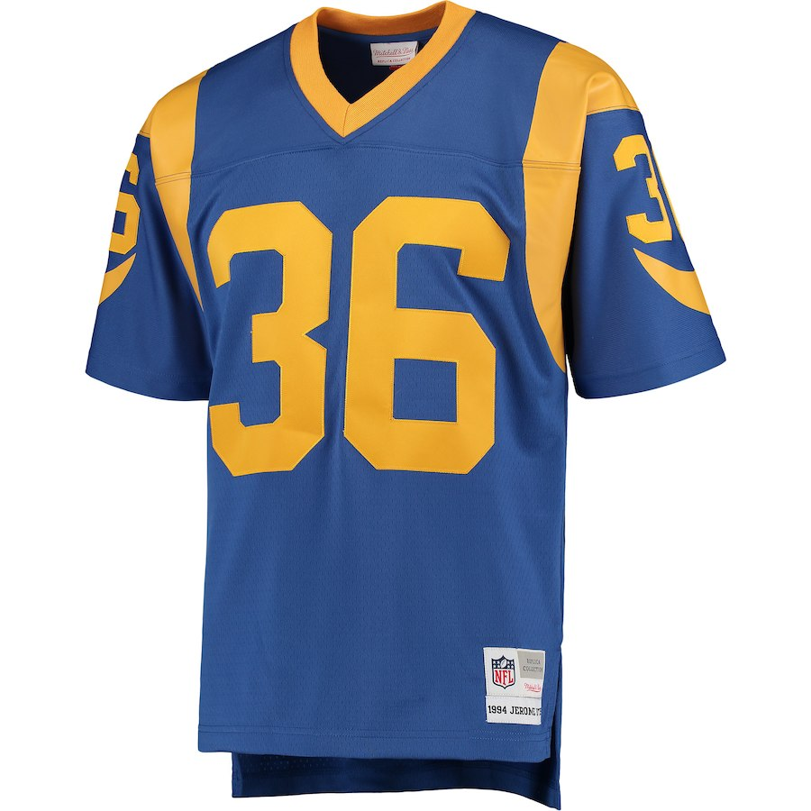 premium selection 3ced7 957d6 Men's Los Angeles Rams Jerome Bettis Mitchell & Ness Royal Replica Retired  Player Jersey