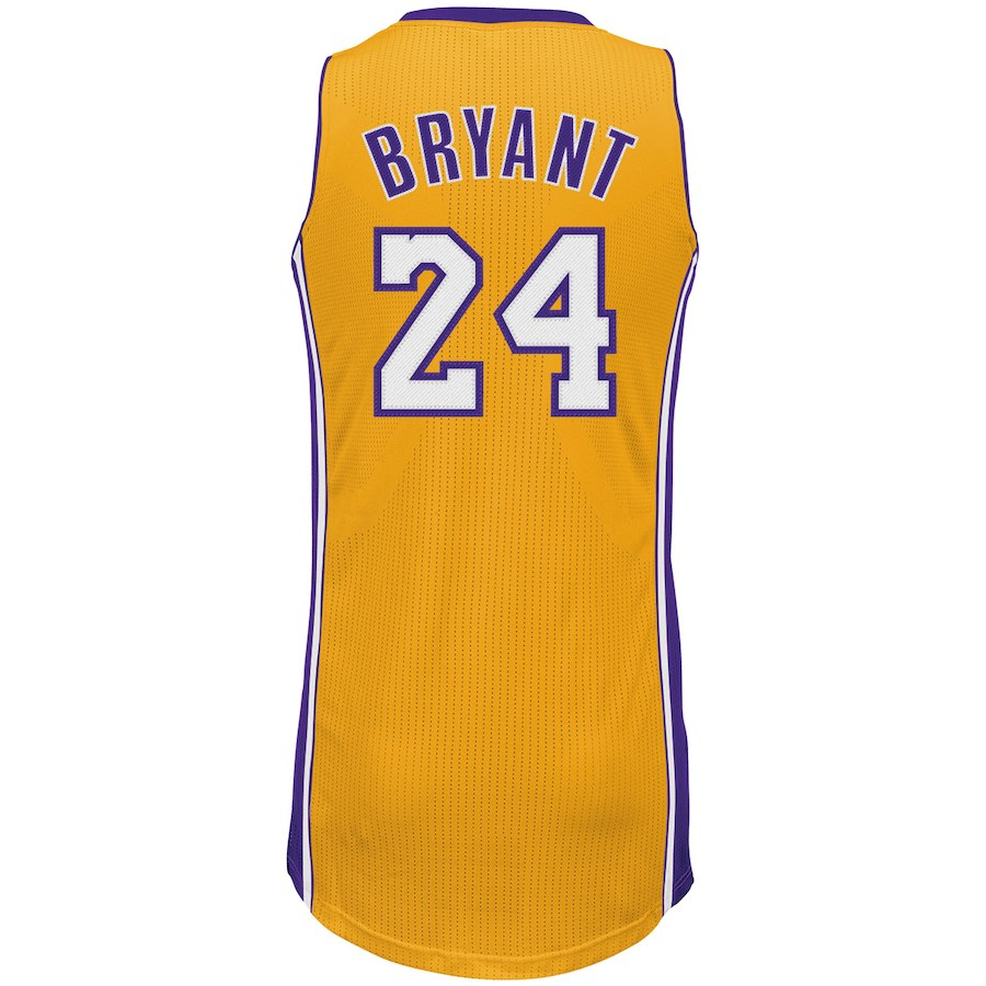 Men's Los Angeles Lakers Kobe Bryant adidas Gold Home Authentic climacool Jersey
