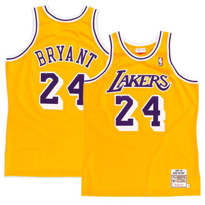 5b7c93480ad Men's Los Angeles Lakers Kobe Bryant Mitchell & Ness Gold 2008 Authentic  Jersey