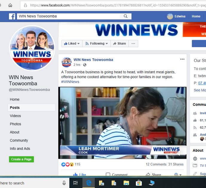 iCooked on WIN News