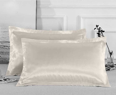Charmeuse Satin Pillowcases | Cream | One Pair