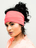Head Band: Grace | Coral Moisture Absorbing Gym Exercise Wrap | Linda Christen Designs