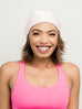 Beanie: Kari | Light Pink Charmeuse Satin-Lined Slouch Cap | Linda Christen Designs