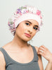 Satin-Lined Bonnet With Floral Pattern | Sophia