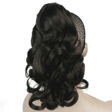 Claw Hair Piece Pony Short Extra Curly 12""