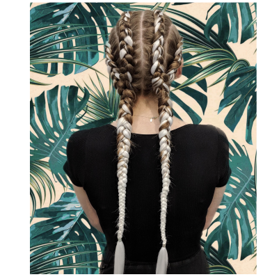 Online Service Sale - 4 into 2 Dutch Braids With Extensions