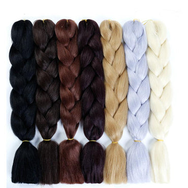 "Synthetic Braiding Hair 100g 24""  Single Colours"