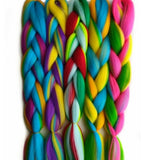 "Synthetic Braiding Hair 100g 24"" Mixed Colours"