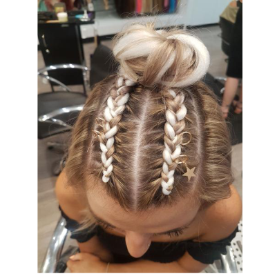 Online Service Sale - Top Braids With Bun With Extensions