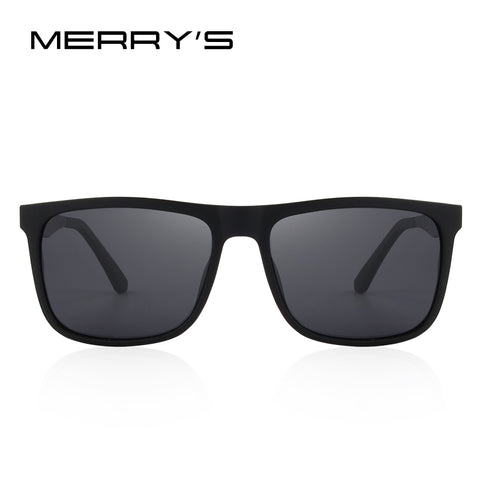 a97b17e20a ... MERRY S DESIGN Men Polarized Square Sunglasses Fashion Male Eyewear  Aviation Aluminum Legs 100% UV Protection