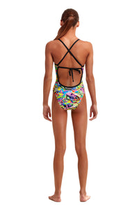 Funkita Girls Tie Me Tight One Piece<br/>Fossil Fuel