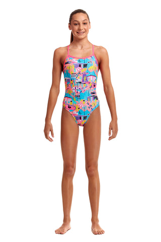 NEW! Funkita Girls Tie Me Tight One Piece Just Desserts