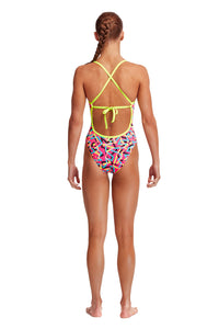 NEW! Funkita Girls Tie Me Tight One Piece<br/>Party Popper