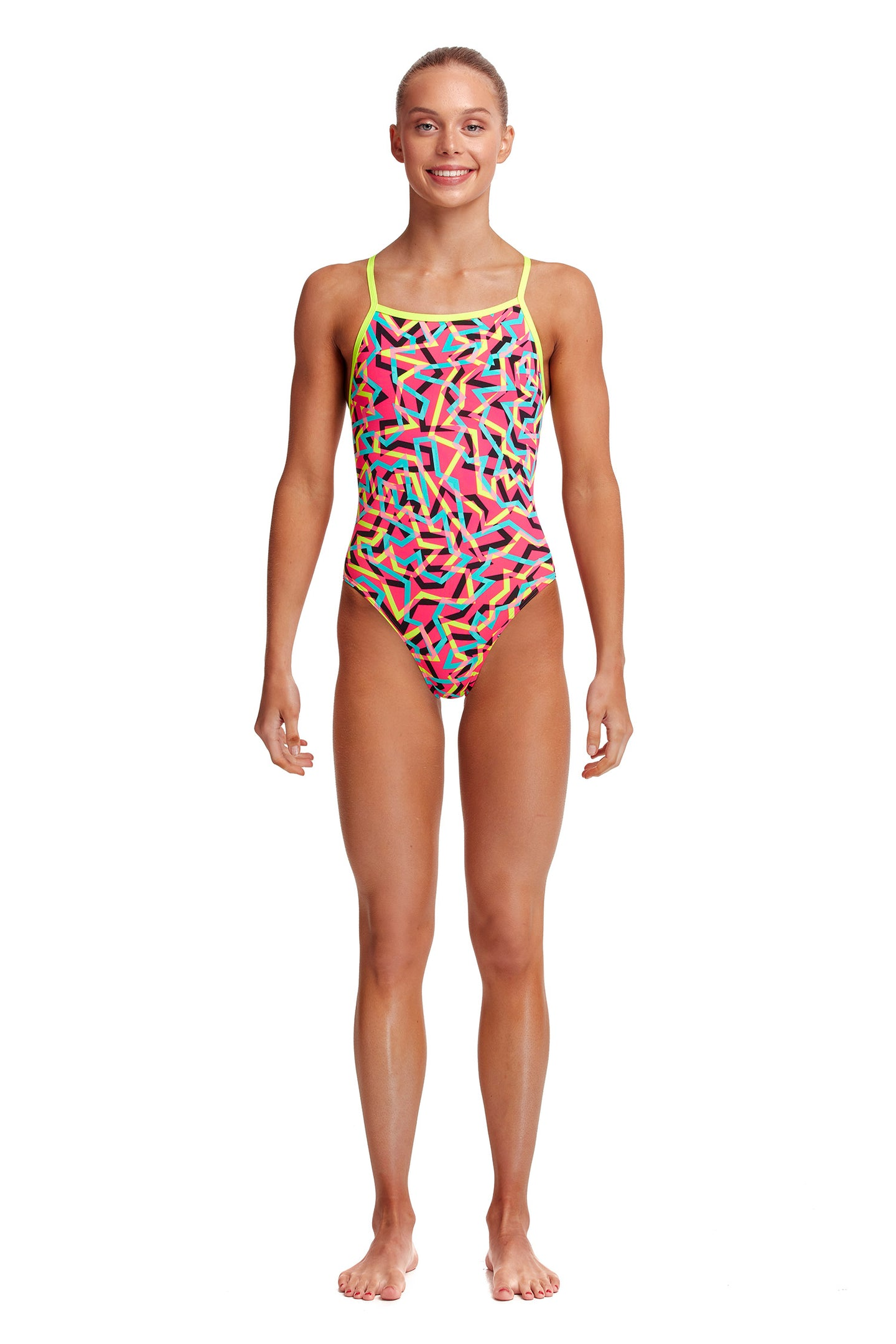 Funkita Girls Tie Me Tight One Piece<br/>Party Popper