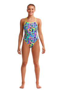 NEW! Funkita Ladies Tie Me Tight One Piece<br/>Bio Cell