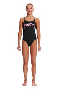 NEW! Funkita Girls Twisted One Piece<br/>Pinked