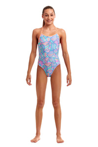 NEW! Funkita Girls Twisted One Piece<br/>Sweet Spot