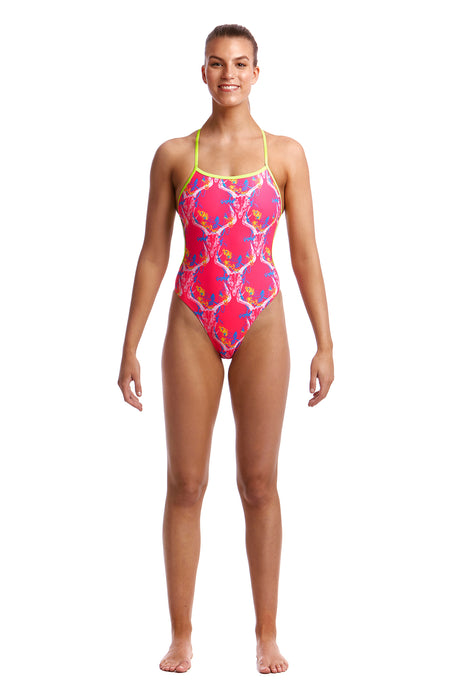 Funkita Ladies Single Strap One Piece<br/>Sweet Skulls