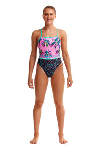 NEW! Funkita Ladies Twisted One Piece<br/>Twilight Session