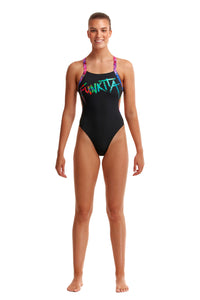 NEW! Funkita Ladies Brace Free One Piece<br/>Spray Tagged