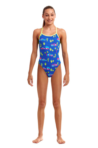 NEW! Funkita Girls Eco Single Strap One Piece<br/>Cadi Shack