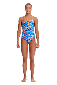 NEW! Funkita Girls Eco Single Strap One Piece<br/>Double Scoop
