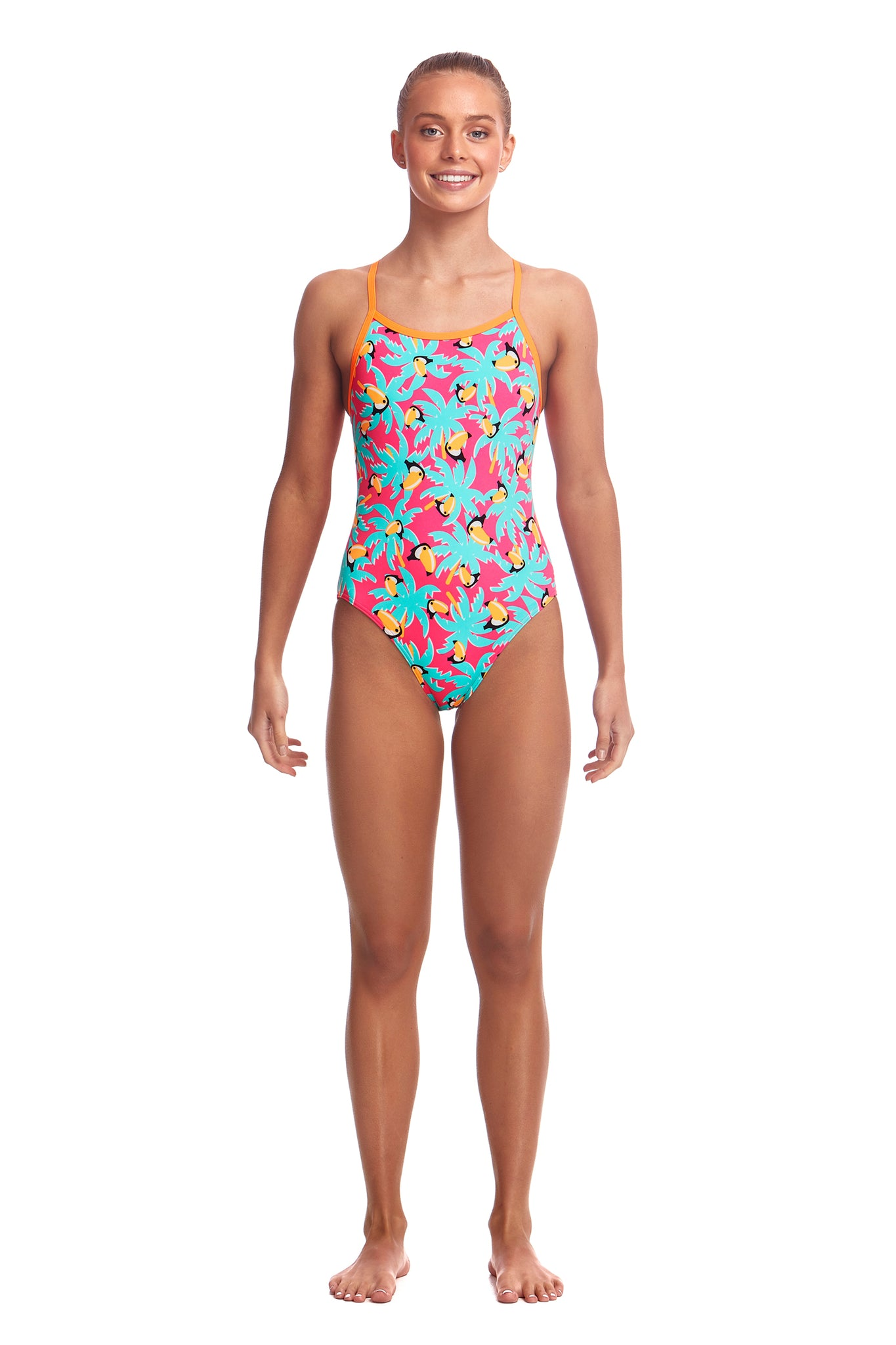 Funkita Girls Eco Single Strap One Piece Toucan Tango