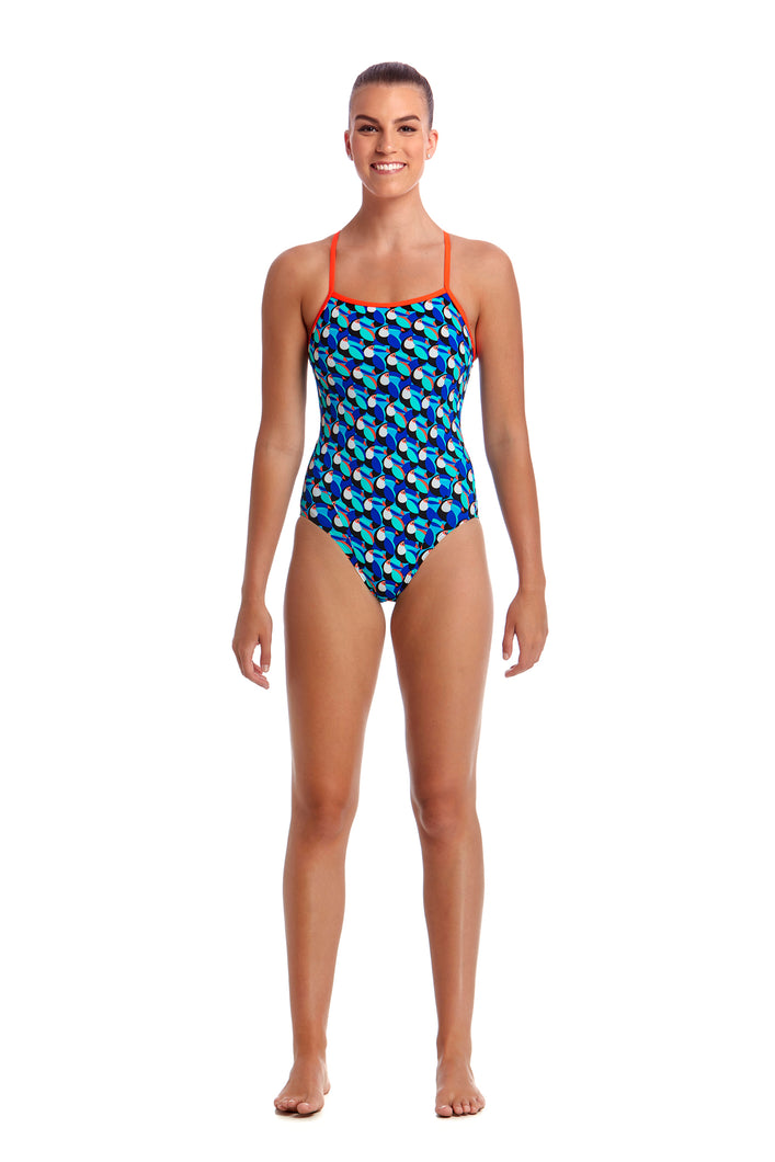 LAST ONE! Funkita Ladies Eco Single Strap One Piece<br/>Touche