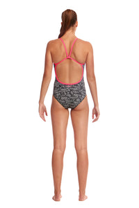 Funkita Ladies Eco Single Strap One Piece<br/>Zebra Crossing