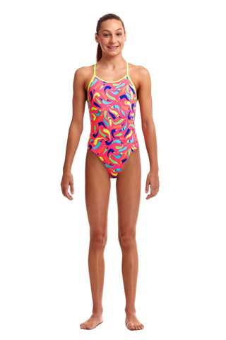 NEW! Funkita Girls Eco Diamond Back One Piece So Hot