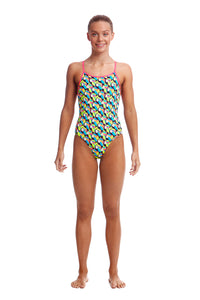 NEW! Funkita Girls Eco Diamond Back One Piece<br/>Toucan Do It