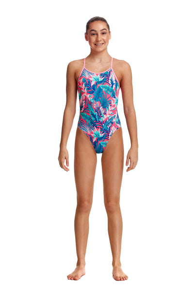 NEW! Funkita Girls Eco Diamond Back One Piece TropFest