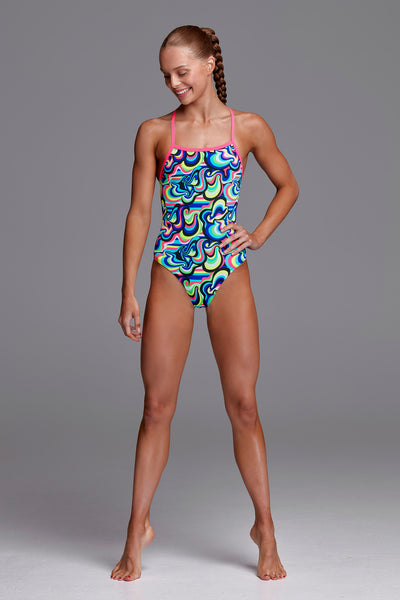Funkita Girls Eco Strapped In One Piece Gelat OMG