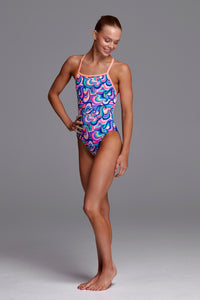 Funkita Girls Eco Strapped In One Piece<br/>Ice Cream Queen