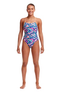 Funkita Ladies Eco Strapped In One Piece<br/>Ice Cream Queen