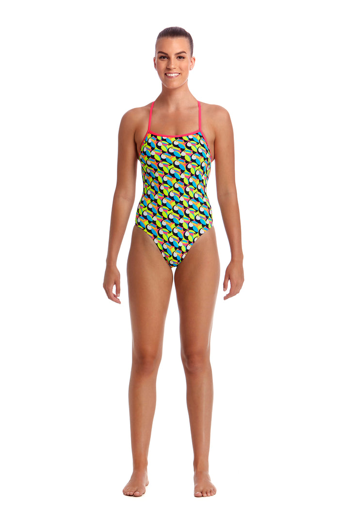 Funkita Ladies Eco Strapped In One Piece<br/>Toucan Do It