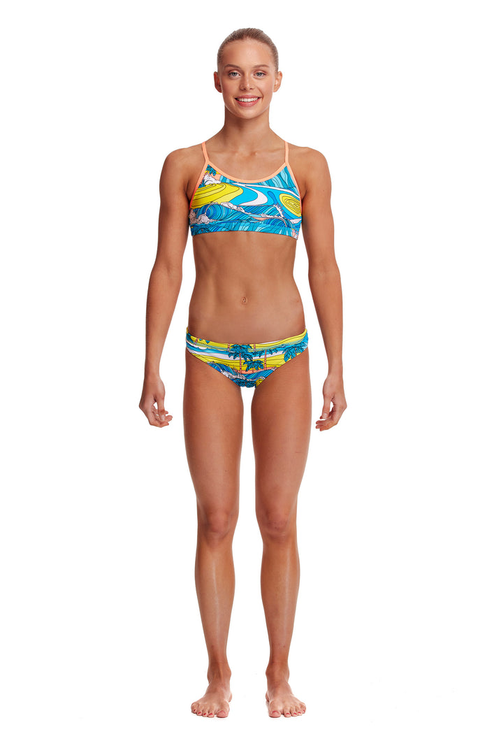 NEW! Funkita Girls Eco Racerback Two Piece<br/>Summer Bay