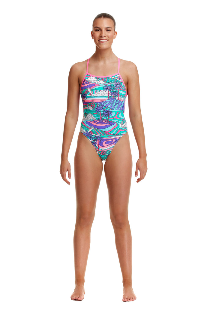 NEW! Funkita Ladies Eco Tie Me Tight One Piece<br/>Palm Cove