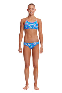 Funkita Girls Racerback Two Piece<br/>BooBam Blue