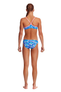 NEW! Funkita Girls Racerback Two Piece<br/>BooBam Blue