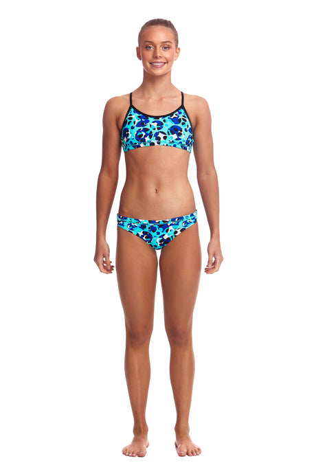 Funkita Girls Racerback Two Piece<br/>Holy Sea