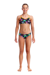 Funkita Girls Racerback Two Piece<br/>Palm Drive